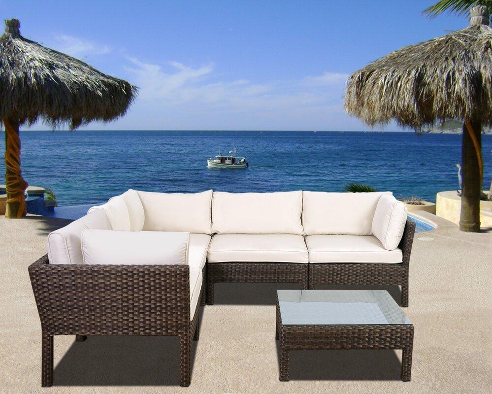 Ricci 6 Piece Sofa Set with Cushions