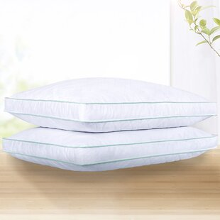 Potts Quilted Gusseted Firm Down and Feather Standard Bed Pillow (Set of 2)