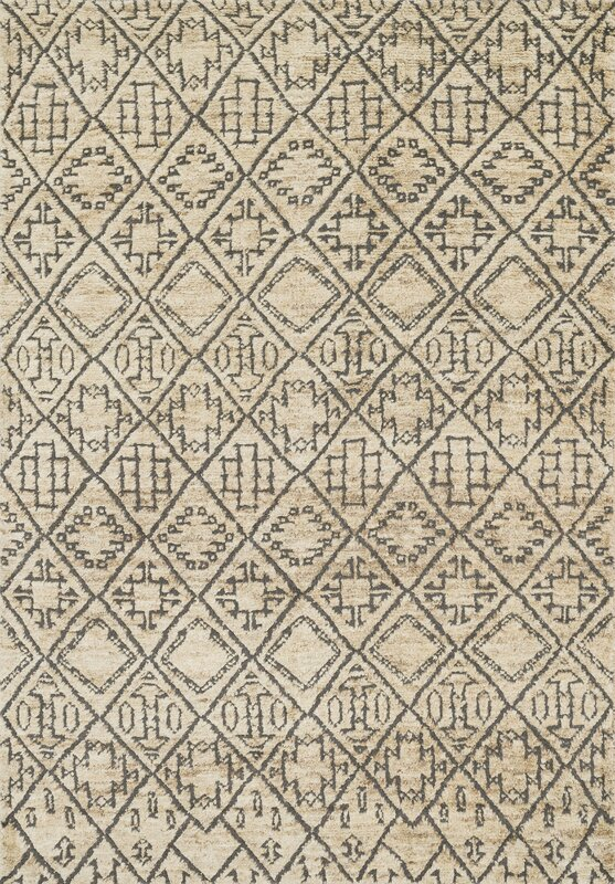 Sahara Hand Knotted Beige Gray Area Rug