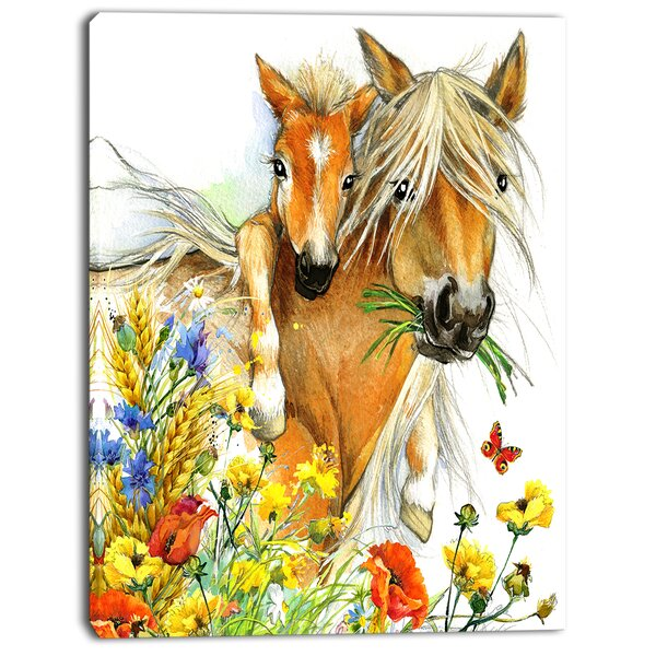3D Rose Clydesdale Mare and Foal Horses Hand//Sports Towel 15 x 22