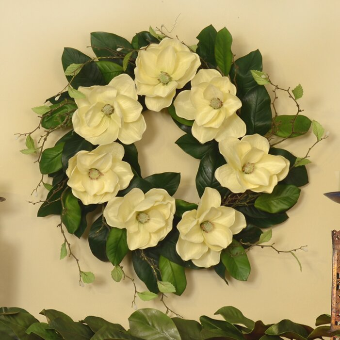 Floral Home Decor 25 Magnolia Wreath Wayfair