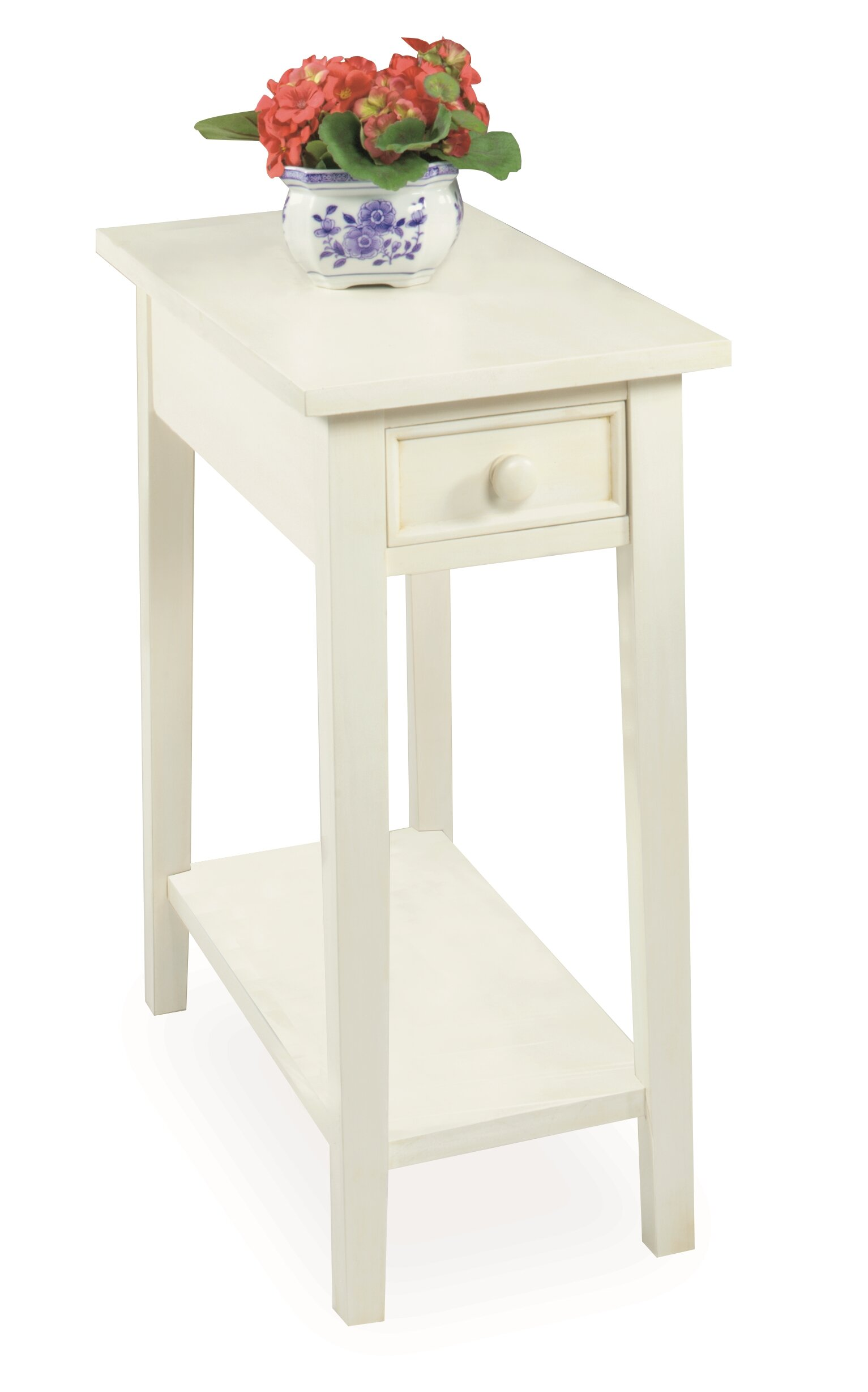 Charlton Home Welwyn Chairside Solid Wood End Table With Storage Reviews Wayfair