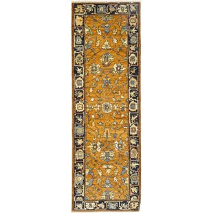 Reviews One-of-a-Kind Dexter Hand-Knotted Wool Brown/Black Indoor Area Rug By Isabelline