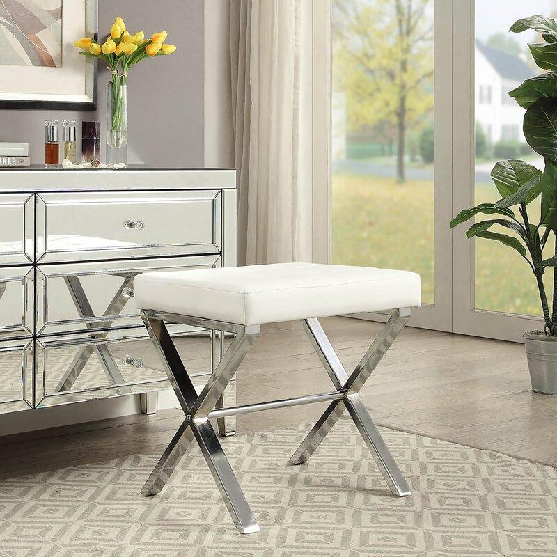 House Of Hampton Kittle Vanity Upholstered Bench Reviews