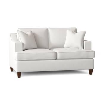 Wayfair Custom Upholstery 59 Recessed Arm Loveseat Reviews Wayfair