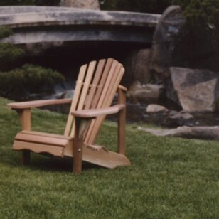 Western Red Cedar Adult Solid Wood Adirondack Chair