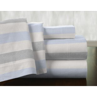 Savannah 100% Cotton Flannel Sheet Set by Pointehaven Today Sale Only
