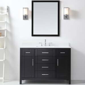 Tahoe 48  Single Bathroom Vanity Set with Mirror in EspressoWhite 32 Inch Vanity   Wayfair. 32 Inch Bathroom Vanity. Home Design Ideas