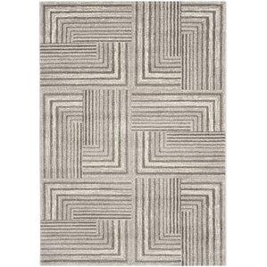 Hilliard Contemporary Light Grey/Dark Grey Area Rug