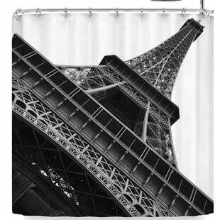 Susan Sanders Eiffel Tower Paris Single Shower Curtain