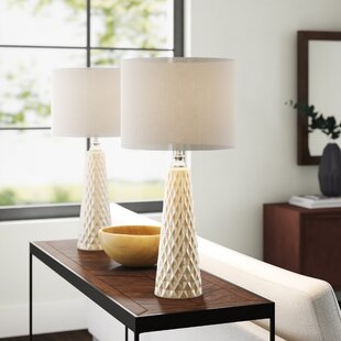 Myah Textured Ceramic 26.5 Table Lamp (Set of 2)