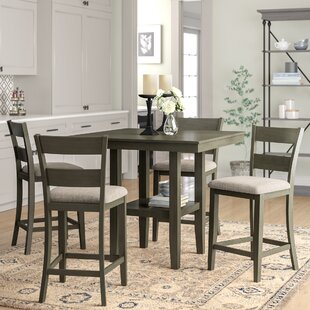 Gwyneth 5-Piece Counter-Height Dining Set Charlton Home