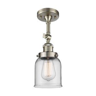Wynkoop Bell Glass 1-Light Semi Flush Mount