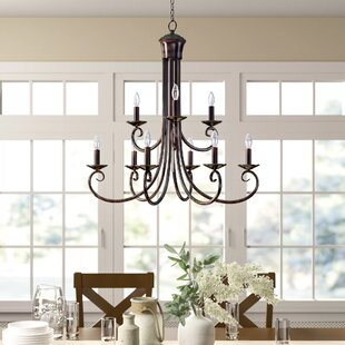 Kenedy 9 Light Candle Style Tiered Chandelier