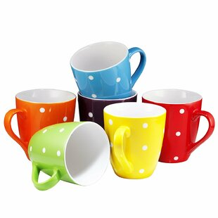 Arterburn Polka Dot Coffee Mug (Set of 6)