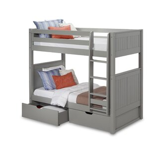 Rabon Twin over Twin Bunk Bed with Drawer by