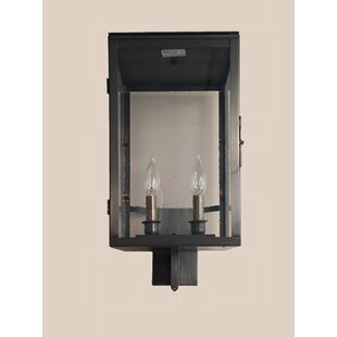 Compare prices Burnam 2-Light Wall Lantern By Brayden Studio