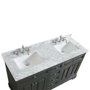 Hankins 60 Double Bathroom Vanity Set by Alcott Hill