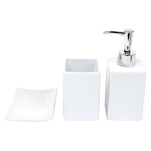 osseo 3 piece bathroom accessory set - White Bathroom Accessories Ceramic