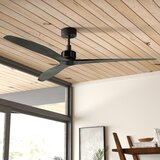 """52"""" Theron 3 -Blade Standard Ceiling Fan with Remote Control"""