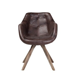 Arpana Genuine Leather Upholstered Dining Chair