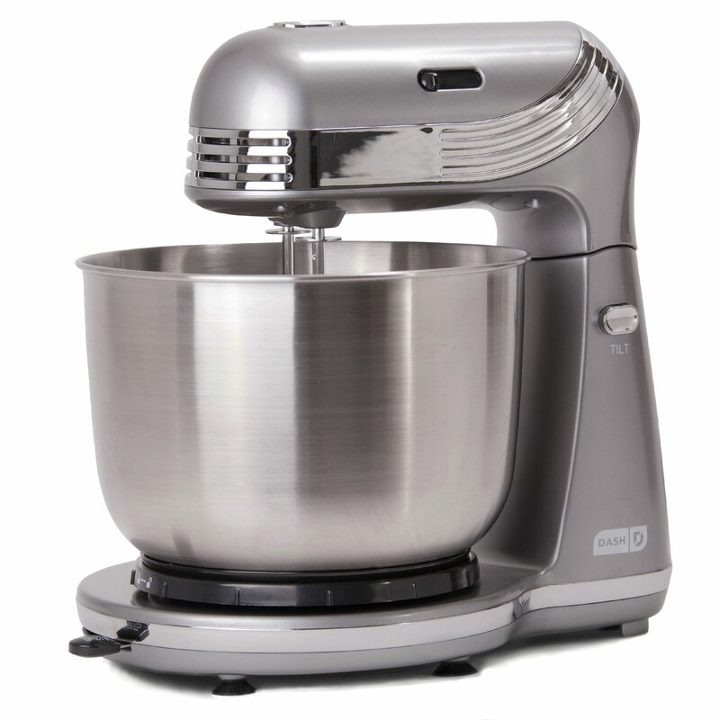 DASH Everyday 6 Speed 2.5 Qt. Stand Mixer Color: Silver