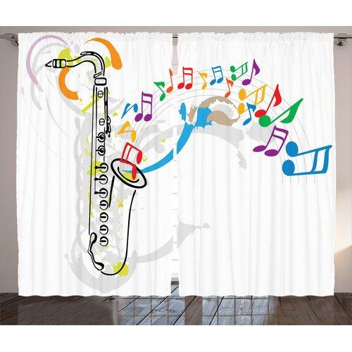 Jazz Pinch Pleat Blackout Thermal Curtains East Urban Home Dimensions per curtain: 260cm H x 140cm W