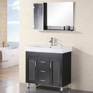 Pratt 36 Single Bathroom Vanity Set with Mirror by dCOR design