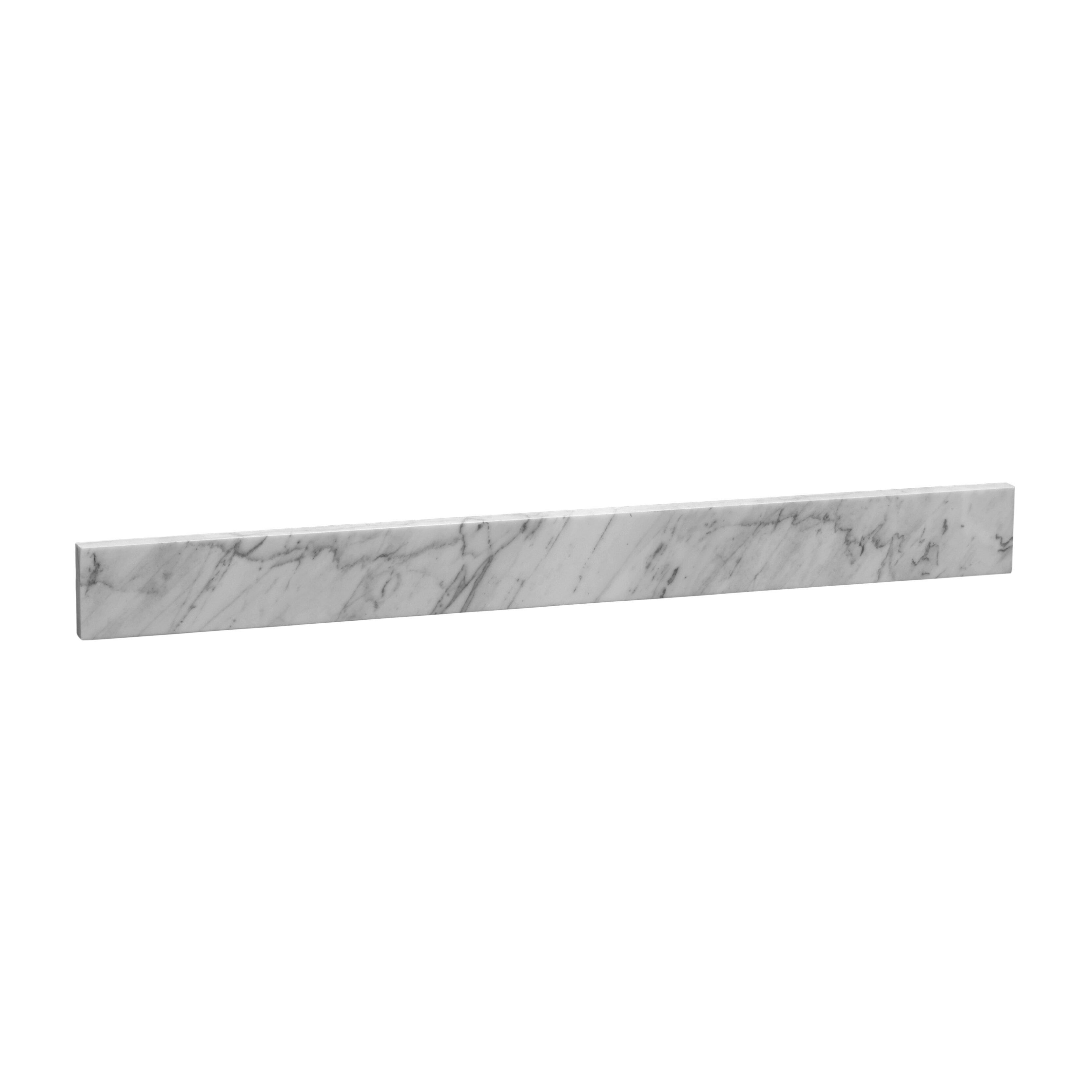 Ronbow 31 X 3 5 Marble Backsplash In Carrara White Reviews Wayfair