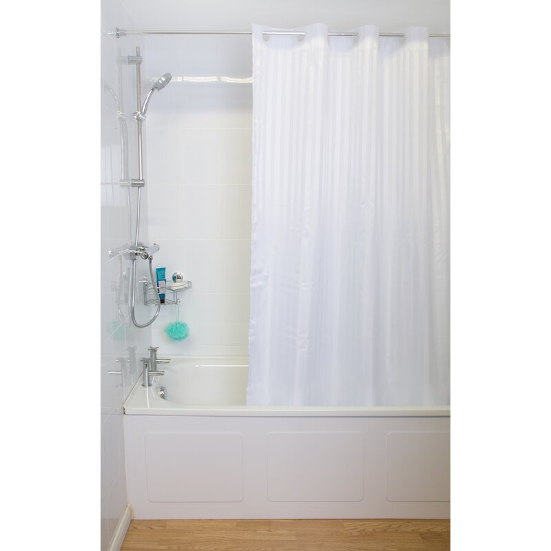 Lauritzen Regency Stripe Hook N Hang Shower Curtain
