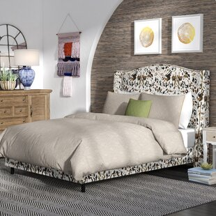 Shopping for Elisamarie Wingback Linen Upholstered Panel Bed by World Menagerie Reviews (2019) & Buyer's Guide
