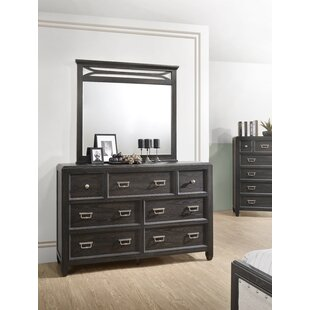 Bostrom 7 Drawer Dresser with Mirror