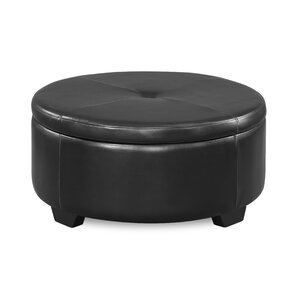 Eunice Round Storage Ottoman by Andover Mills
