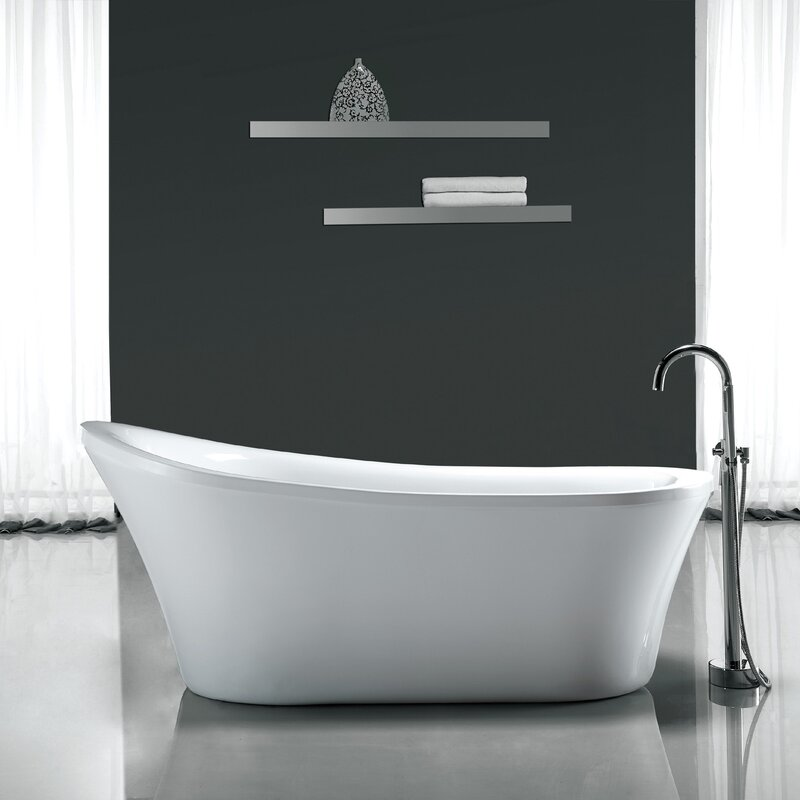Ove Decors Rachel 70  x 34  Freestanding Acrylic Slipper Bathtub   Reviews    WayfairOve Decors Rachel 70  x 34  Freestanding Acrylic Slipper Bathtub  . Free Standing Tub Canada. Home Design Ideas