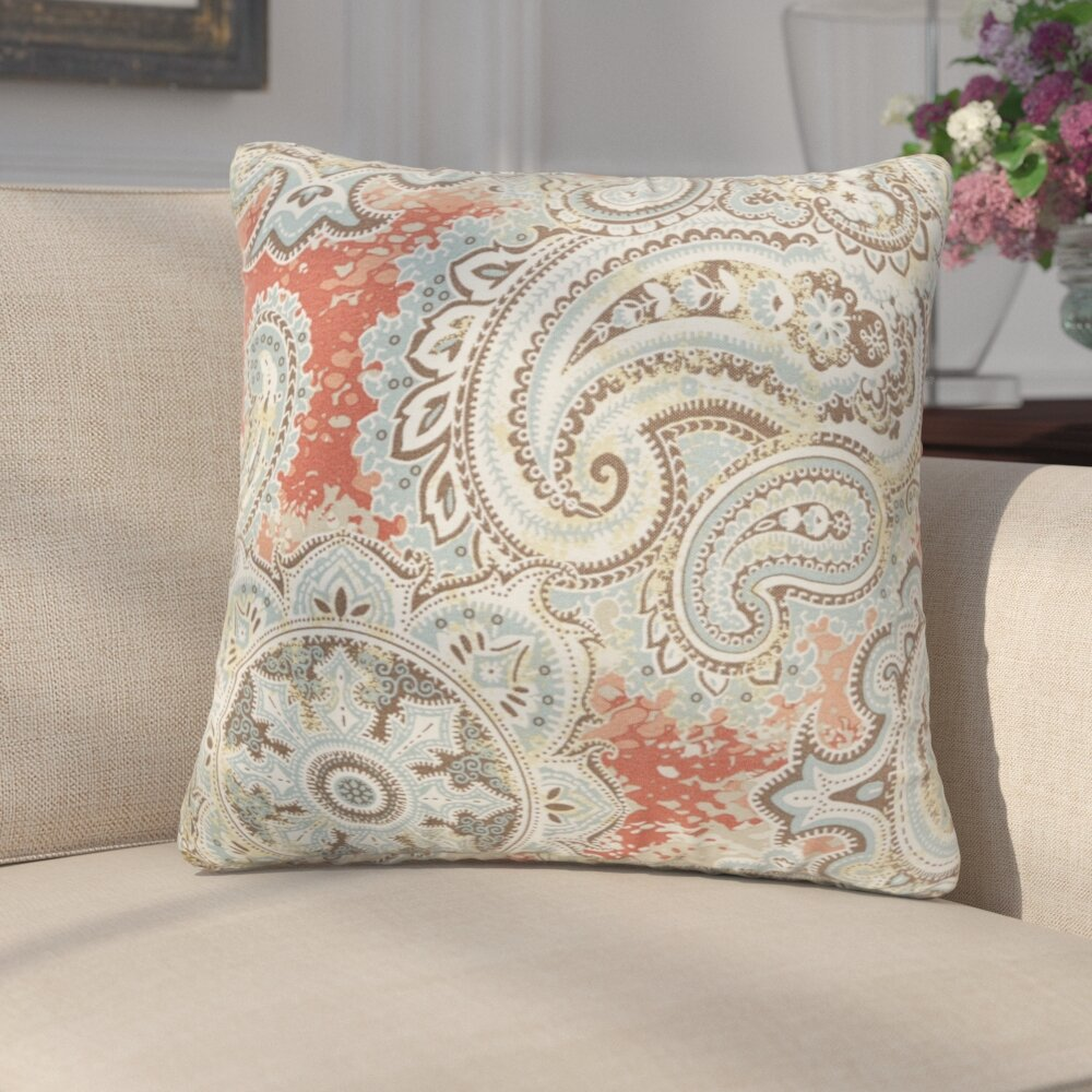 Three Posts Lebaron Paisley Indoor Outdoor Throw Pillow Reviews