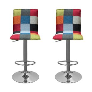 Mackinnon Adjustable Height Swivel Bar Stool (Set of 2)