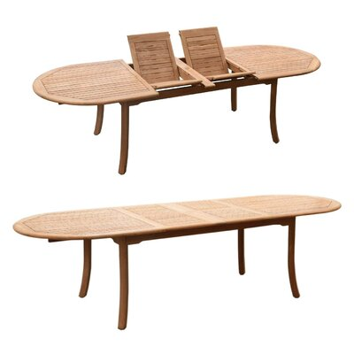 Kevon 11 Piece Teak Dining Set by Rosecliff Heights 2020 Sale