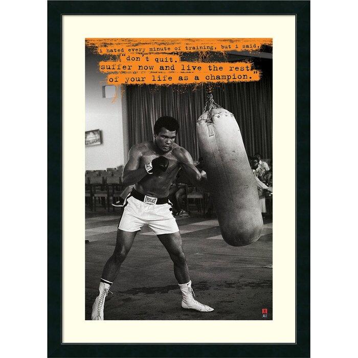 Erfreut Muhammad Ali Framed Pictures Galerie - Badspiegel Rahmen ...