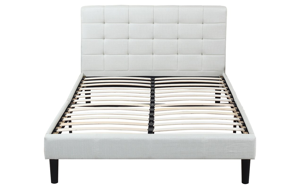 madison home usa classic deluxe linen low profile platform bed  - defaultname