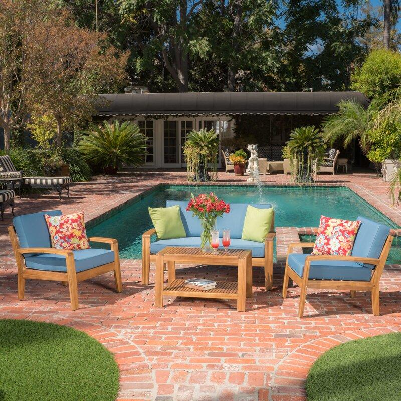 Gaia 4 Piece Sofa Set with Cushions