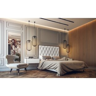 Amy Upholstered Panel Bed by Lievo
