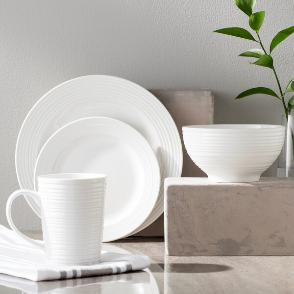 Modern Kitchen Plates: Laurel Foundry Modern Farmhouse Colleen 16 Piece