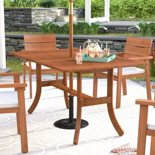 cotten rectangular dining table - Patio Table With Umbrella