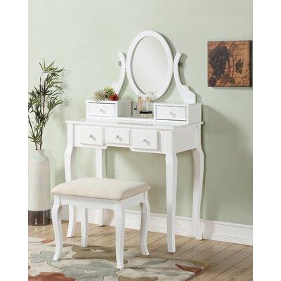 Flip-Top Mirror Bedroom & Makeup Vanities You\'ll Love | Wayfair