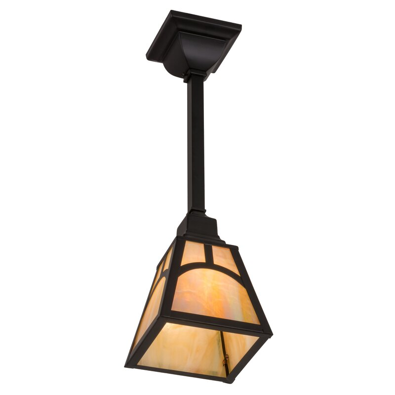 Loon Peak Darrell 1 Light Lantern Geometric Pendant Wayfair