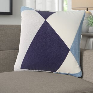 Benefield Embroidered Abstract Decorative Cotton Throw Pillow