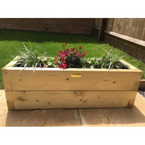 Boligee Wooden Planter Box Freeport Park Size: 30cm H x
