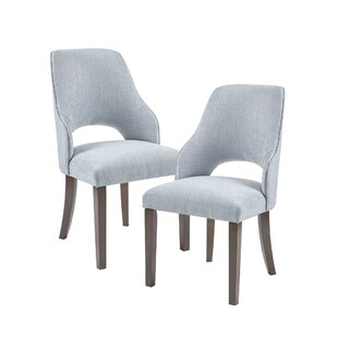 Price comparison LeRay Upholstered Dining Chair (Set of 2) by Gracie Oaks Reviews (2019) & Buyer's Guide