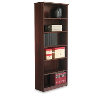 Valencia Bookcase, Six-Shelf, 31 34w x 14d x 80 38h, Espresso by Alera๏ฟฝ SKU:CB669824 Shop