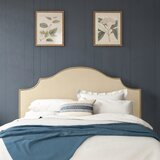 Weathersby Nail Button Notched Duck Upholstered Panel Headboard by Mercer41